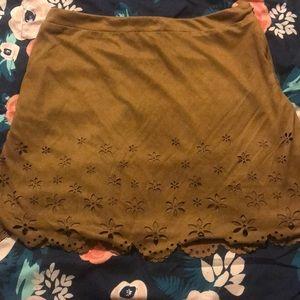 Forever21 skirt, medium, brown, worn once.